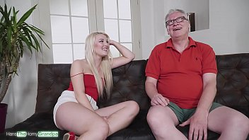 Sweet Lips On Old Dicks Ep. 03 - The lustful blonde Lovita Fate sucks the cock of grandpa Hans and he enjoys it a lot. Blowjob skills at it's best!