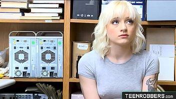 Fucking Cute Teenie in Guard's Office  - Teenrobbers.com
