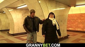 Watch Fucks mom with big tits in the subway preview