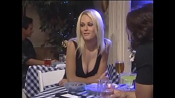 Sexy blonde whore has great fun fucking with her boyfriend at the bar