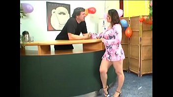 Meat bazooka penetrated tight slit of sensational Jenny with round natural tits