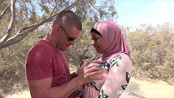 Watch Buxom girl fucked in the desert. Muslim lady enjoyed hot moments with her lover while her husband worked preview
