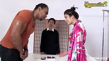 MAMACITAZ - Big Tits Asian MILF Miyuki Son Takes Her First BBC From Franco Roccaforte