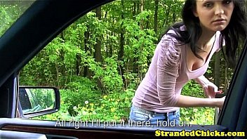 Innocent hitchhiking teen from russia car sex