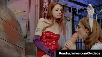 Jessica Rabbit? Kendra James goes Cosplay with a massive long cock as Violet Monroe engulfs until Jessica/Kendra shoots her thick load on her face! Full Video & Kendra  Live @ KendraJames.com!