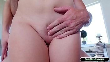 19yo stepdaughter sucks her stepdad behind the back of her mum.In her room shes licked and fucked between her legs by her stepdad before riding him