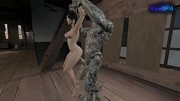 Lara fucked by a monster