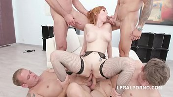 4on1 Classic with with Lauren Phillips Balls Deep Anal, Gapes, DAP and Facial GIO1140