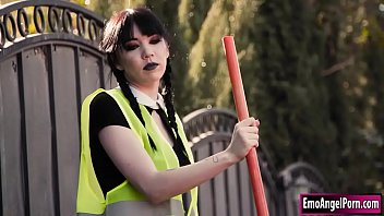Wednesday Addams fed up with her community service and she wants to make a sexdeal with her parole officer.At first he doesn't go for it but a bit of magic finds him all tied up in order to agree