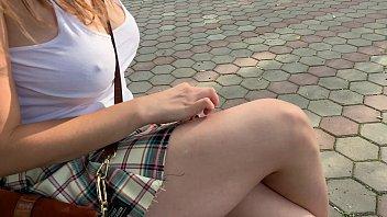 Really naughty girl masturbating in the crowded park - CreamySofy
