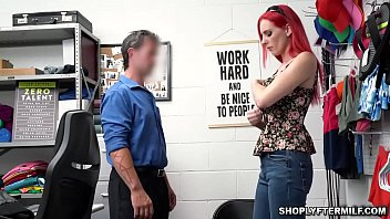 MILF Lilian Stone gets caught on camera stealing some jewelry and gets punished