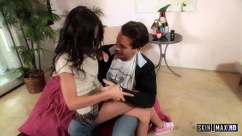 Teen Slut Amia Miley Seduces Daddy after Babysitting - Full Scene Interracial