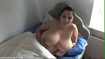 beautiful  huge boobs  milf touching herself