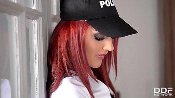 Sexy Cop Aylin Diamond Pussy Masturbates with a Vibrator