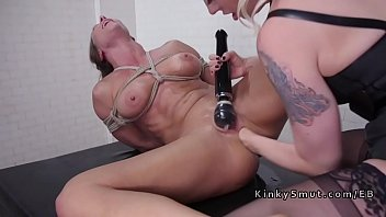 Brunette hard anal toyed and fisted