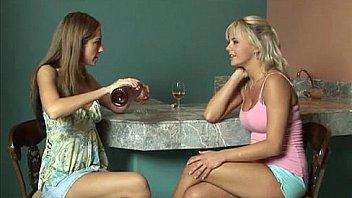 Blonde and Brunette lesbians have sex