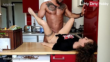Mydirtyhobby German Amateur Babe Got A Hardcore Fuck On The Kitchen Counter And Cum In Her Tight Teen Pussy Pov From Her Boss thumbnail