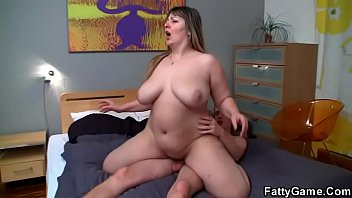 Blond BBW loves riding his cock