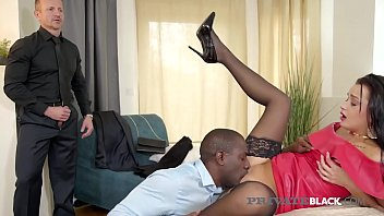 Watch Dark Haired Housewife, Daphne Klyde, takes a pussy pounding & butt fucking by a Big Black Cock & her Hubby, giving her all dick in this hot interracial threesome! Full flick at PrivateBlack.com! preview