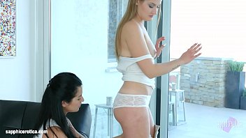 Bendover anal lesbian scene with Jessica Lincoln and Tiffany Tatum by Sapphix