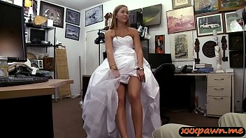 Beautiful amateur blonde sweetie gets her pussy drilled by horny pawn keeper in his office