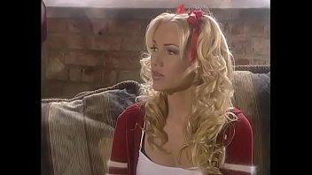 Busty blond slut Jodie Moore takes it in her wet pussy