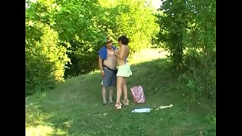 Glorious Elena with large natural tits is fingered