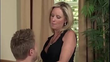 mom son stocking high heels taboo