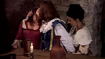 Two hot servants fucking in historic dress