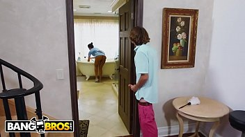 BANGBROS - Hot Brazilian Housekeeper Has Threeway With Rich Clients