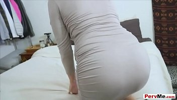 I was sneaking around my stepmoms room in hopes of finding a pair of her panties to sniff but she caught me and now I need to lick her pussy