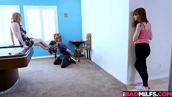 Big tits mom Lauren punished the stud sitting on his face and making him eat her coochie