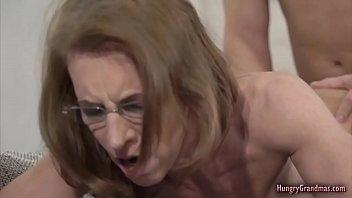 Petite granny fucks hard