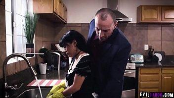 Latina maid Aryana Amatist submits to sadistic employer