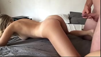 Doggystyle neighbor's wife to sweet orgasm