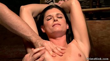 Watch Milf India Summer in chair bondage takes vibrator on clit then master makes her squirt by fingers in dungeon preview