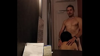 Chinese mature tourist meets her white lover to fuck in a hotel in Paris