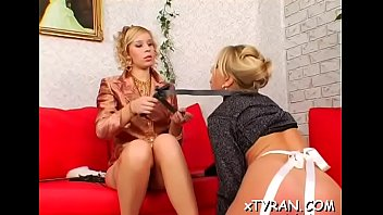 Sexy babe dominates her slave in hot femdom fetish action