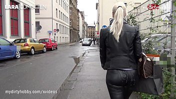 MyDirtyHobby - Dirty blonde gets fucked in public parking place!