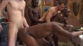 Black and white gay sex
