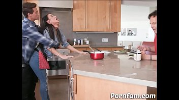 Dared Mom Melissa Lynn Fucked by Her Son in The Kitchen  - Pornfam.com