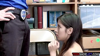 Colombian teen thief busted by a dirty security guard