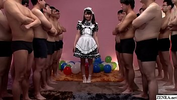 JAV huge gokkun event Airi Natsume naughty maid fellatio with glass Subtitles