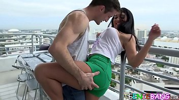 Delicious teen banged hard on the couch