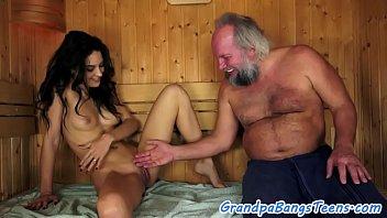 Carolina Abril pounded in sauna by older man