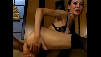 Skinny asian girl showed her ass and got a big black cock