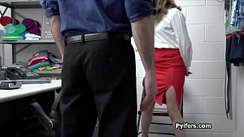 Petite suspect fucked at the office