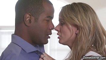 Beautiful wife Pristine Edge takes husbands big black dick