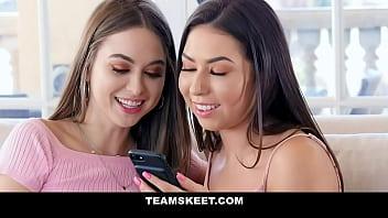 Step Siblings - Two Cute Teens (MelissaMoore) (RileyReid) Cock And Jizz Sharing