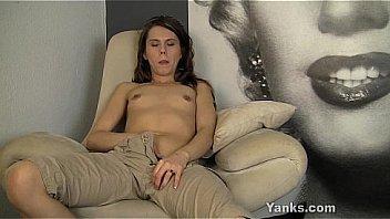 Brunette Amber Masturbating